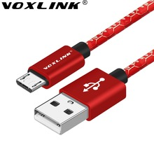 Voxlink кабель micro usb 2.1a 0.5 m 1 m 1.5 m синхронизации данных зарядный кабель для iphone 7 6 6s плюс 5S ipad samsung htc lg sony кабель usb