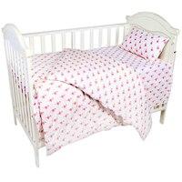 AINAAN 3 Pcs 100 Cotton Crib Bed Linen Kit Flamingo For Girls Baby Bedding Set