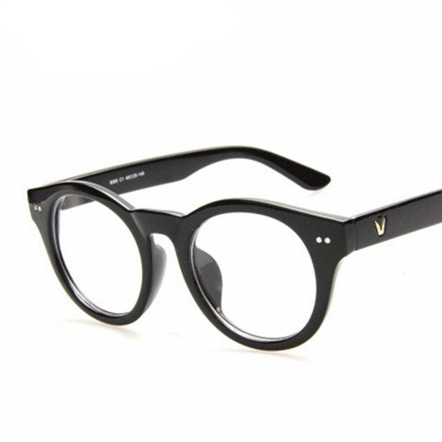 round frame V shape eyeglasses frames Brand Square Vintage Myopia ...