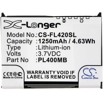 Cameron Sino 1250 mAh Battery For Fujitsu For Siemens Loox 400 410 420 C500 C550,S26391-F2607-L50, 10600405394, PL400MB,PL400MD