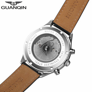 Image 3 - GUANQIN Luxury Brand Classic Men Automatic Date Luminous Clock Mens Fashion Casual Leather Strap Waterproof Mechanical Watches