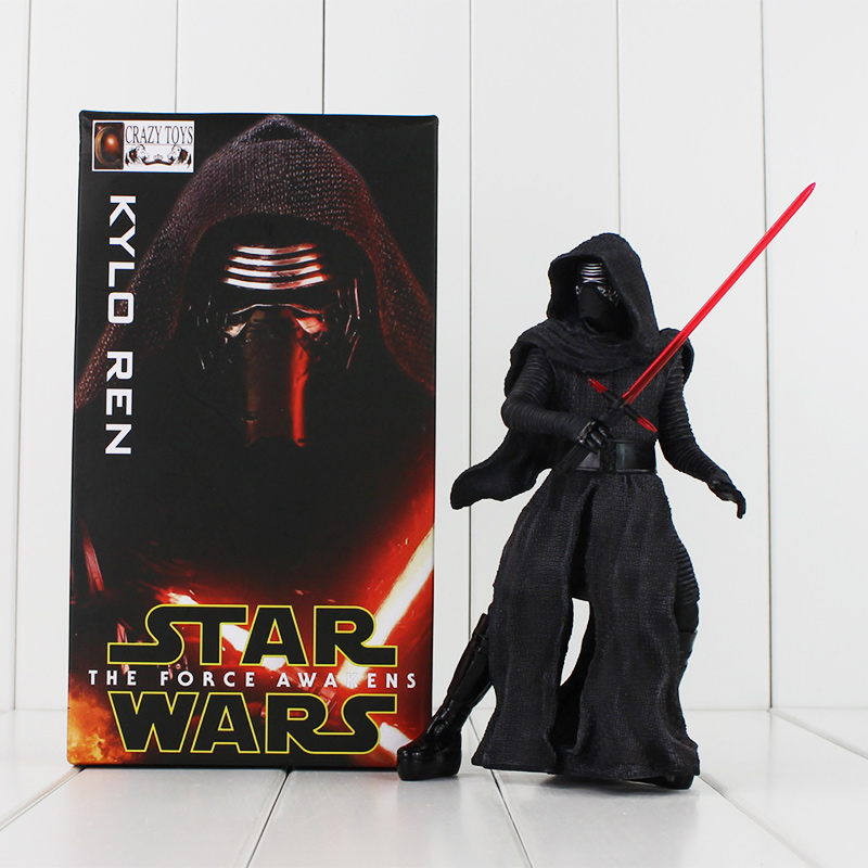 New Crazy Toys Star Wars The Force Awakens KYLO REN PVC Action Figure Brinquedos Figuras Anime Collectible Kids Toys 20cm star wars the black series darth vader stormtrooper lightsaber pvc action figure brinquedos figuras anime collectible kids toys