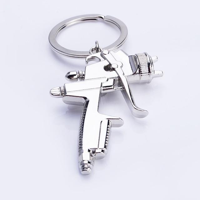 Metal criativo arma de água chaveiro criativo novo estilo arma de água chaveiro pequeno pingente