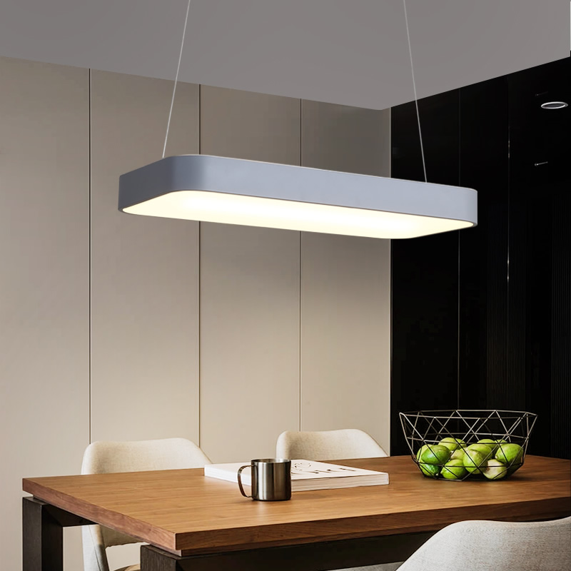 New Dimmable Modern led Chandelier For Dining Room Kitchen Room Hanging White or Grey RC Pendant Hanging Chandelier FixturesNew Dimmable Modern led Chandelier For Dining Room Kitchen Room Hanging White or Grey RC Pendant Hanging Chandelier Fixtures