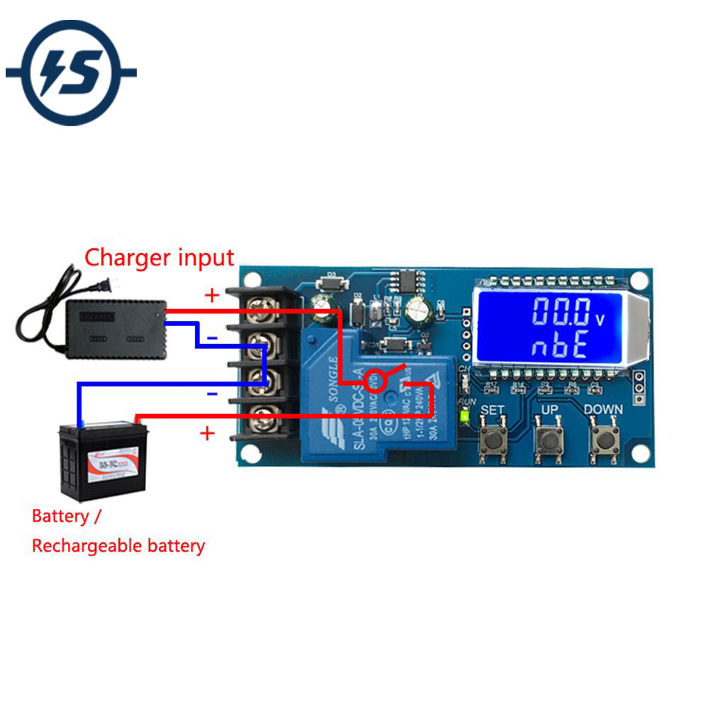 NEW Lithium Battery Charge Controller Protection Board 6-60V 30A LCD Display