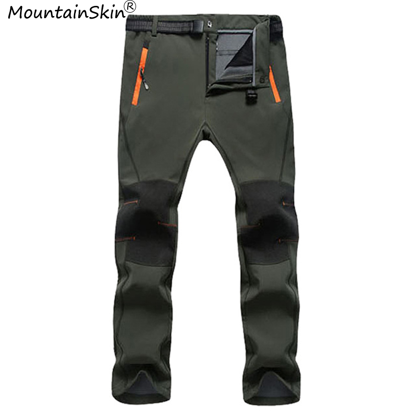 Mountainskin Для Мужчин флисовые зимние штаны военная мужской теплый толстый модные штаны Водонепроницаемый ветрозащитный Для мужчин брендовая ...