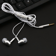 10PCS Super bass Meatl headset in-ear earphone headsets rose gold  wired earphones earbus with mic for cell phone PC