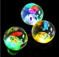 1 pcs colorido suave alta bouncing balls piscar bola elástica brinquedos novelty led colorido bebê bola de plástico engraçado dos desenhos animados brinquedo