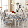 Luxury Europe Embroidery Tablecloth Satin With Lace Dinning Table Cover Chair Seat Cover Cushion Desk Computer Refrigerator Cov