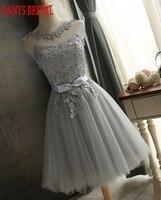 Silver Gray Short Homecoming Dresses 8th Grade Prom Dresses Junior High Cute Graduation Formal Dresses Mezuniyet