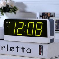 Snooze Old Man Seat Bell Mute Luminous Bedside Clock LED Digital Electronic Big Screen Alarm Clock Student Children