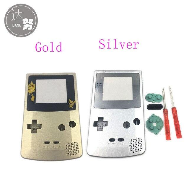Oro Argento Per Nintendo GameBoy Color Cover di Ricambio Borsette Per GBC