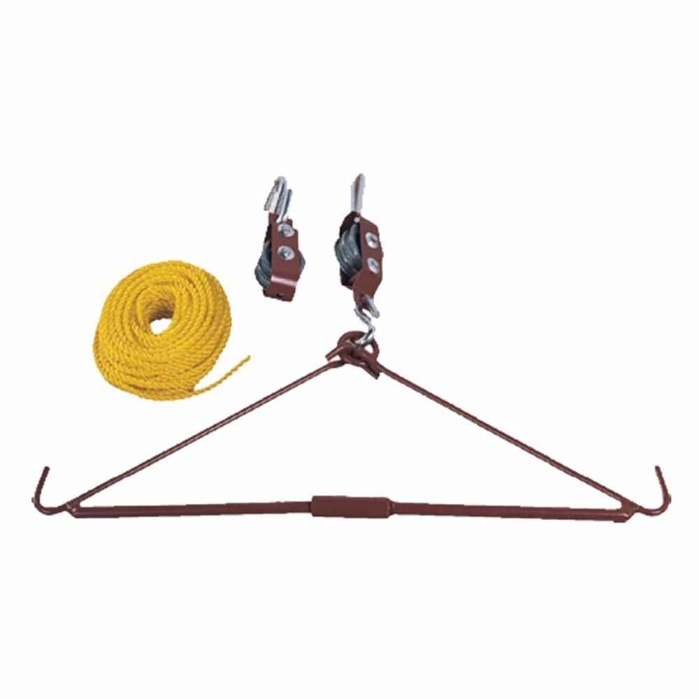 Tourbon Hunting Shooting Accessories Gear Deluxe Deer Hoist Gambrel Swivel Hitch Lift System