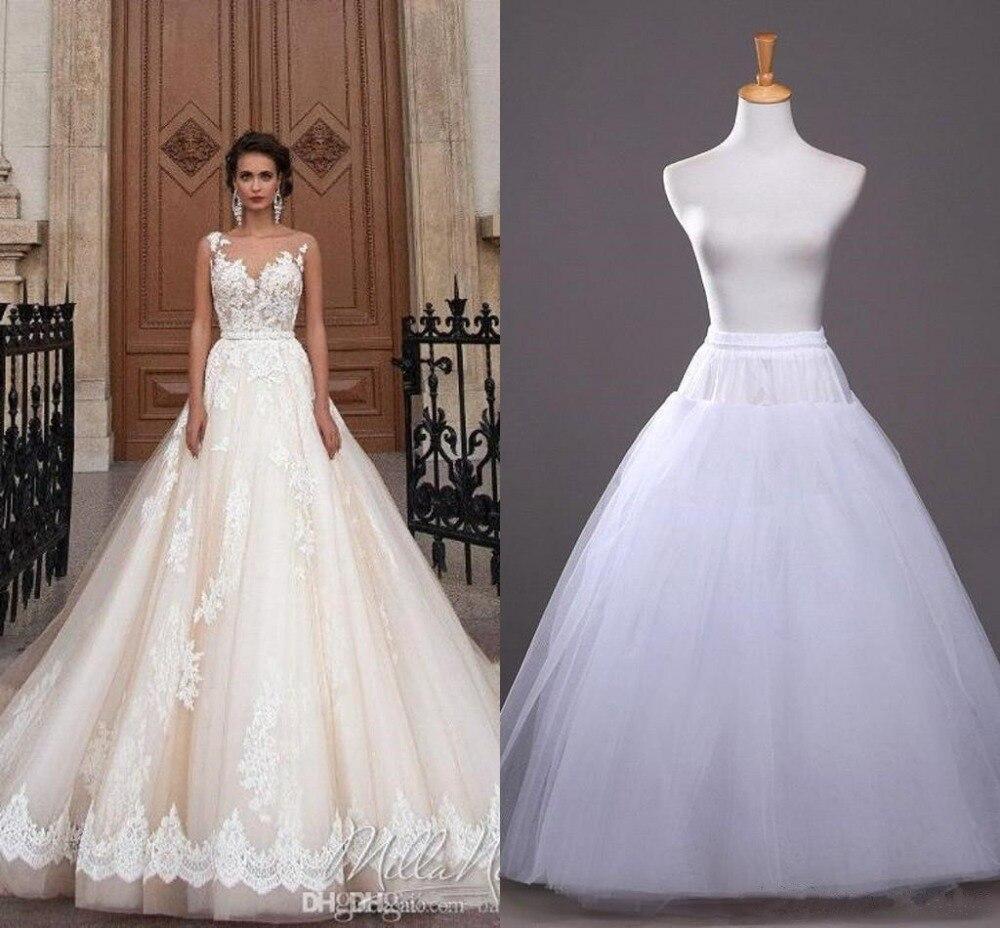 Wholesale A Line Crinoline Petticoats Plus Size Sexy Black Bridal Hoop Skirt High Quality Ruffle Wedding Accessories