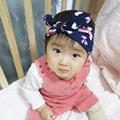 Baby Дети Цветок Цветочные Бантом Оголовье Тюрбан Узел Кролик Оголовье Укутать Голову
