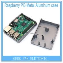 2016 Raspberry Pi 3 Grey Aluminum case Metal Box with Heatsink Function For Raspberry Pi 2&Raspberry Pi model b plus&3 RP0013G