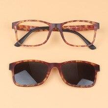 Aimant Ensemble Miroir lunettes de Soleil Polarisées Clip Ultem Tungstène  acier En Plastique Myopie Lunettes Cadre peut Remplir . c32a09fc2f61