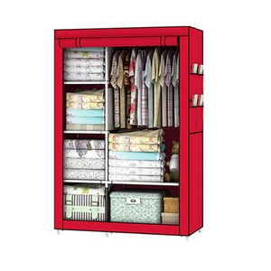 Image 3 - Bedroom Furniture For Home Storage Cabinet Door Wardrobe For Clothing Nonwoven Fabric Storage Clothes In The Closet In Moscow