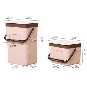 Image 5 - BNBS ถังขยะห้องครัวติดผนังถังขยะของขวัญถุงขยะ Zero ขยะรีไซเคิล Compost Bin ถังขยะห้องน้ำ Dustbin