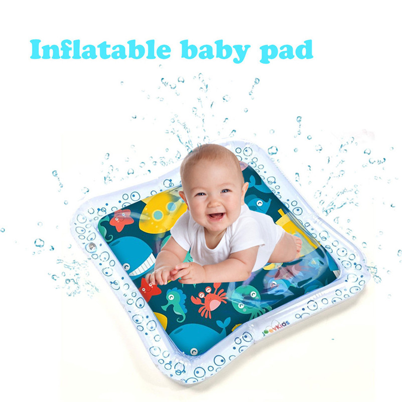 Inflatable Baby Water Mat Fun Activity Play Center For Children Infants Toldder Educational Toys Dropshipping Gifts F1