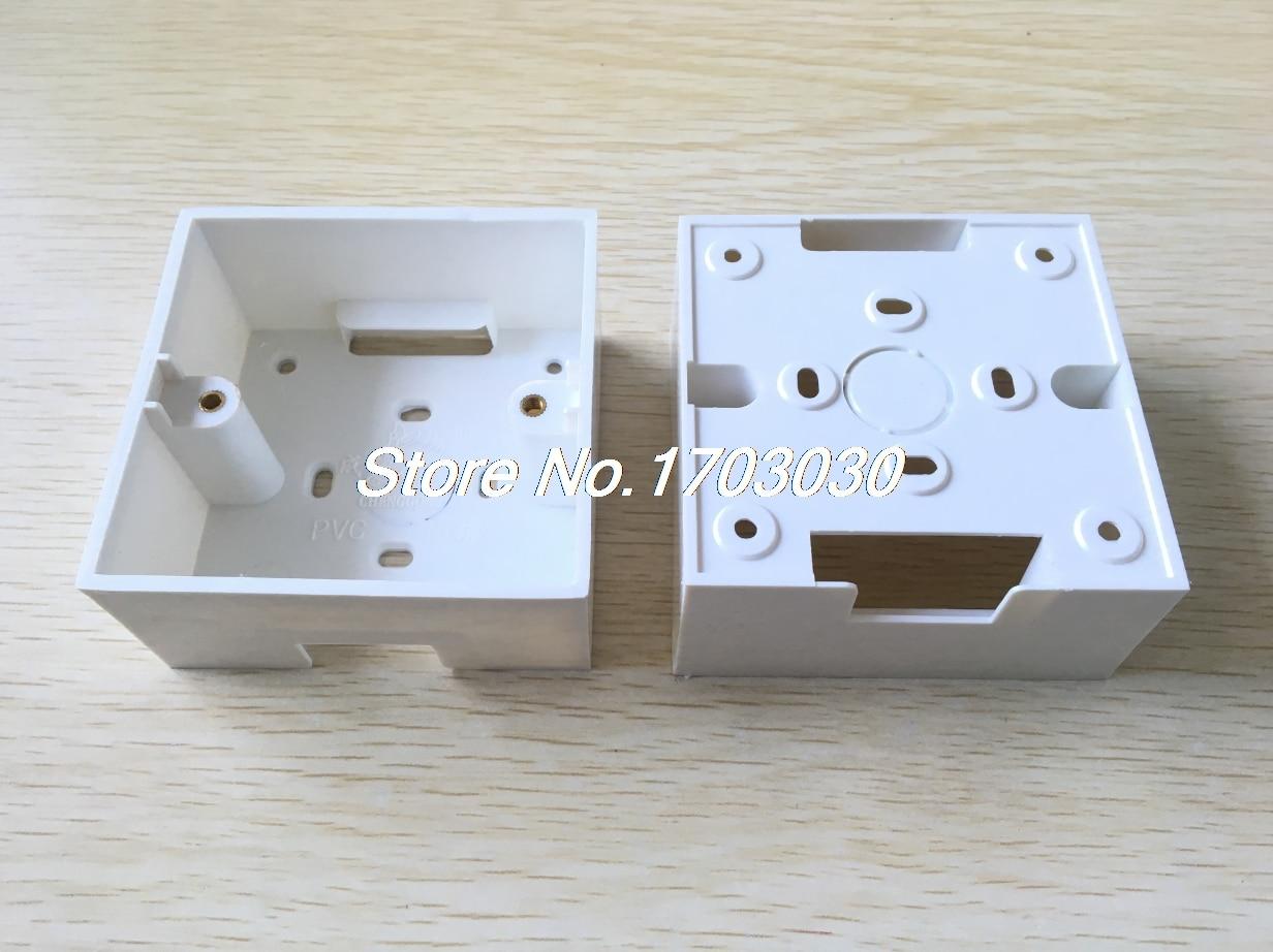 5-x-white-pvc-flush-mount-one-gang-wall-switch-pattress-back-box-86x86x40mm