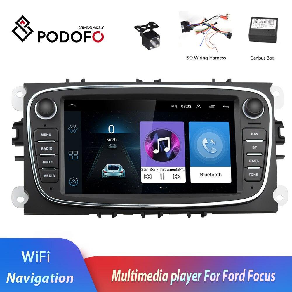Podofo 2 din Android 8 1 7 HD Car Radio Autoradio Multimedia Player GPS Navi WIFI