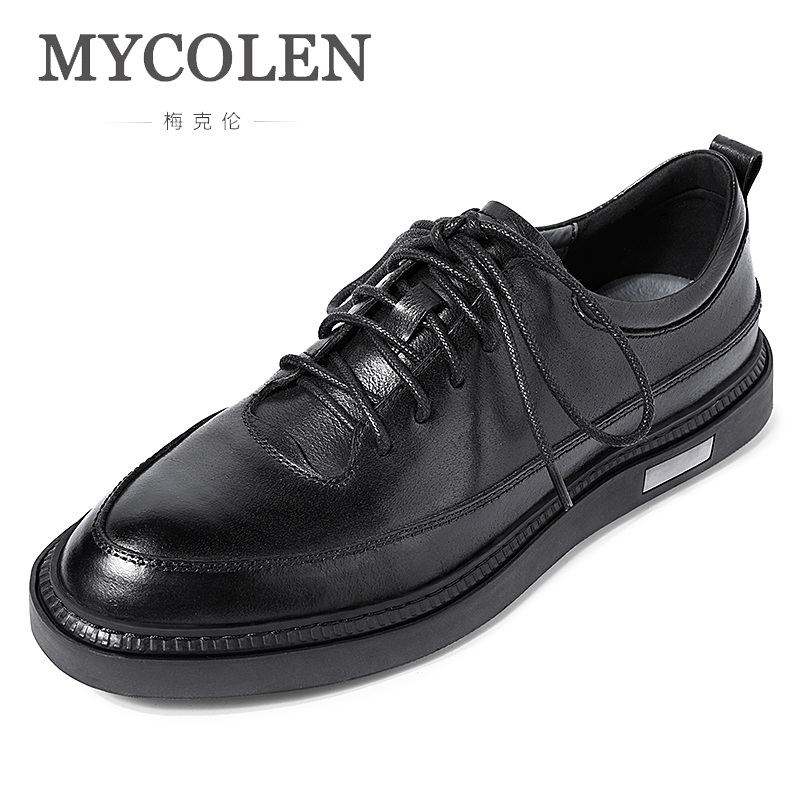 MYCOLEN Mens Shoes Leisure Leather Shoes Minimalist Design Lace-Up Men Dress Shoes Loafers Formal Business Herren SchuheMYCOLEN Mens Shoes Leisure Leather Shoes Minimalist Design Lace-Up Men Dress Shoes Loafers Formal Business Herren Schuhe