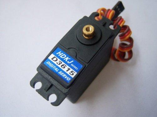 HDKJ D3615/D3609 4.8v-7.2v 56G Torque 15/9kg Metal Gear Digital Standard Servo 180 Degree Rotation for DIY Drone Boat