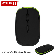 Ultra-thin Wireless Mouse 2.4Ghz 1600DPI 3D Optical Mouse Slim Computer Mice Gaming Mouse sem fio for Laptop PC Gamer Tablet