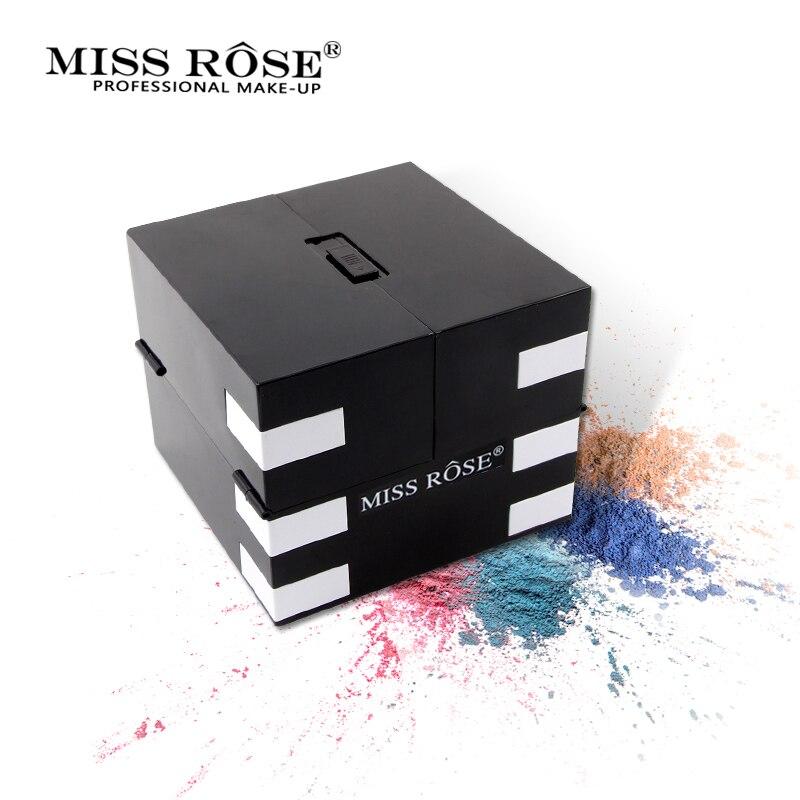 Miss Rose 142 di Colore Opaco Ombretto Tavolozze Glitter Shimmer Impermeabile Ombretto Illuminare di Lunga Durata Trucco Luminoso Naturale