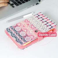 2018 New Vintage Old Retro Dashiki National Style Fabric Cover Office Ring Binder Weekly Planner Organizer