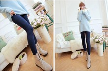 Pregnant women autumn and winter pants plus thick velvet leggings pantyhose step foot care belly warm  trousers