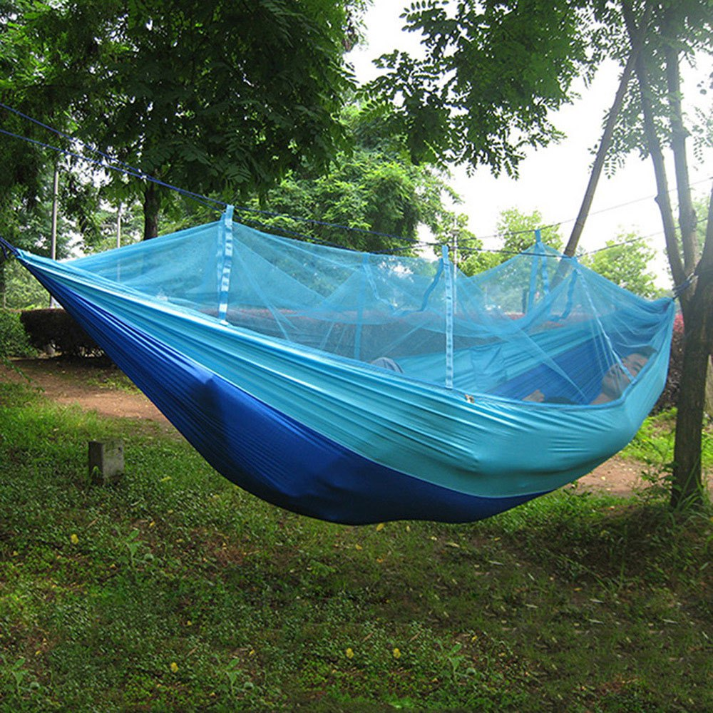 Sleeping Bags Homasy Outdoors Portable Single Person Mosquito Net Hammock Hanging Bed High Strength Parachute Nylon For Travel Camping Picnic Sports & Entertainment