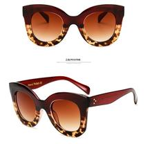 Fashion Oversided Lady Leopard Frame New Eyewear  Brand Designer Women Square Retro Men Sunglasses