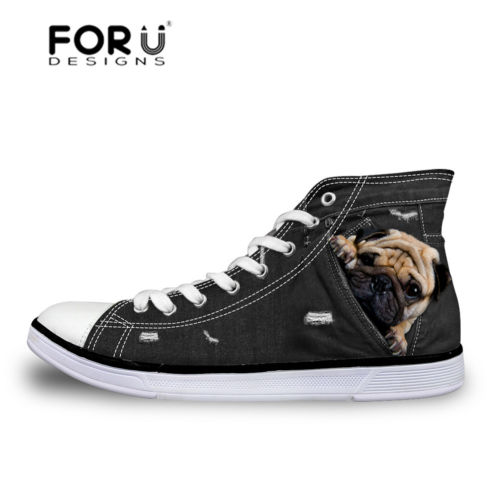 Fitness High 29 Children Canvas Running Cat 45Off forudesigns Top For Sport Pug In Shoes Printing Sneakers Boys Boots Us25 FK3l1JcT
