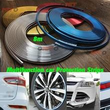 8m Car Decorative Styling Chromium Plated Strip Tire Rims Car Wheel Protector Hub Sticker for bmw benz vw audi Ford Kia Hyundai