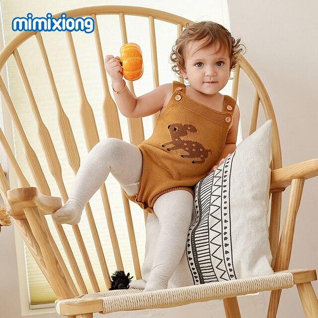 Adorável Renas Bodysuit para Meninas Natal Macacão Sem Mangas Outono Meninos Recém-nascidos Macacão Inverno Criança Kid Roupas Animais