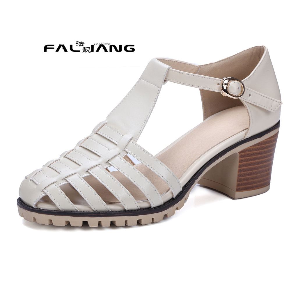 ФОТО Big Size 11 12 Are thick with shallow mouth root Casual tie type women's sandals women's shoes woman for women platform shoes