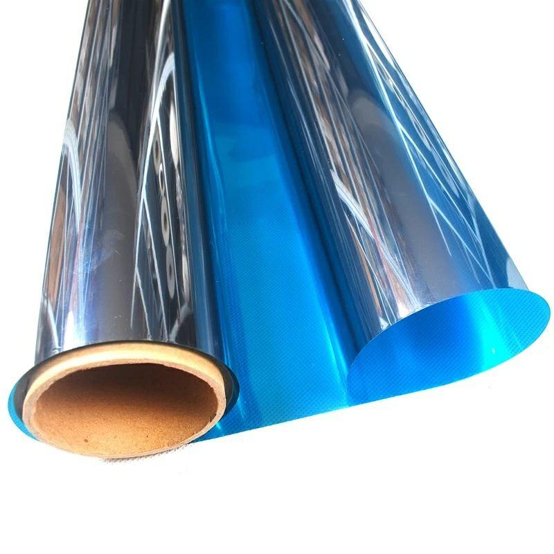 1 m x 10 m bleu et argent One Way solaire miroir réfléchissant confidentialité fenêtre Film arrêt chaleur autocollant