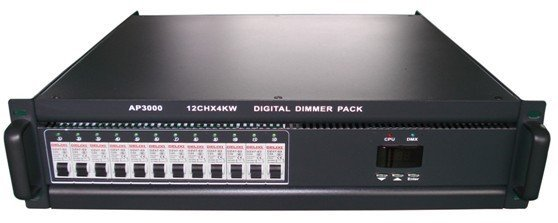 12Channel*4KW DMX Dimmer Digital Silicon case (3U)/12 CHX4KW DMX dimming controller pack/stage light equipment/DJ light/show