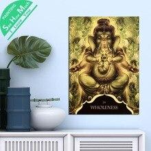 1 Шт. Ганеша Зеленый Целостность HD Печатных Холст Wall Art Плакаты и Принты Плакат Живопись  Лучший!