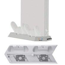 Вертикальная подставка для PS4 Pro V2 охлаждающий вентилятор, базовая станция для зарядки контроллера для консоли Playstation 4 Pro, зарядное устройство, подставка для охлаждения