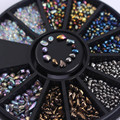 1 Box Mixed Color Small Irregular Chameleon Beads Rhinestones 3D Nail Art Decoration in Wheel Manicure Decor# 36990
