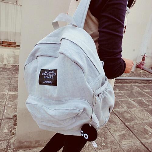 2017 Fashion Women Backpacks Denim School Bags For Teenagers Girls Shoulder Bag Travel Backpack Bolsas Mochilas Femininas women canvas backpacks school bags for teenagers girls preppy style travel shoulder bags kanken backpack mochilas feminina