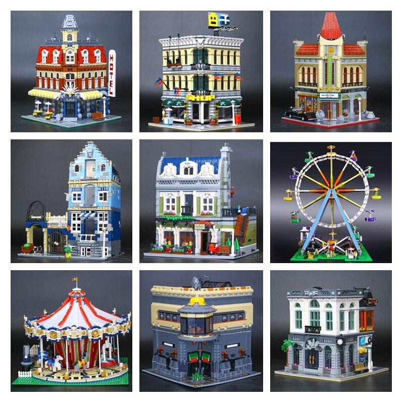 H & HXY DHL EN STOCK 15001 15002 15003 15004 15005 15006 15007 15008 15009 15010 15011 15012 Maison Modèle Bloc De Construction Briques Jouets