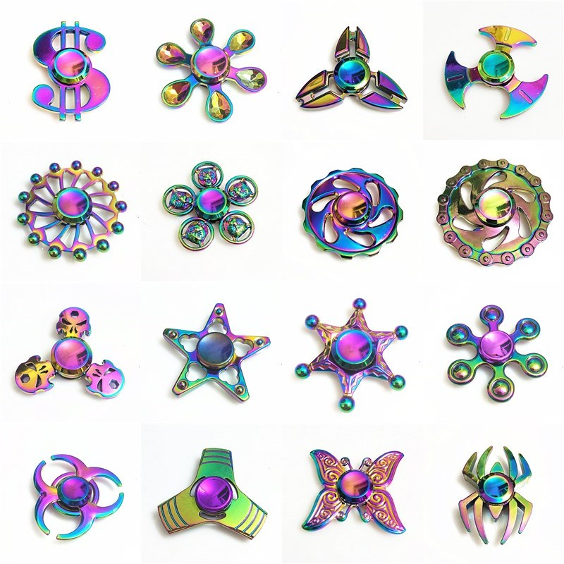 dollars usd colorful Fidget Spinner EDC Hand Spinners Autism ADHD Kids Christmas Gifts Metal Finger Toys Spinners new hot metal spinner tri spinner fidget finger spinner for autism adhd edc desk spinner beyblade relax toys christmas gift