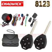 NEW CHADWICK 8123 for Toyota #2 blank key Car Alarm System Universal Siren one-Way Auto Security Keyless Entry 4 button quanlity