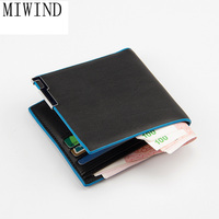 MIWIND 2017 Leather Wallet leather Slim Card Holder wallets Bifold Wallets Brand Male Purses Men Bags carteira masculina TBL546