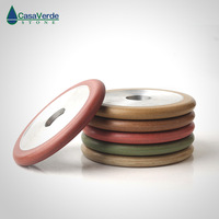 Free shipping 4 inch resin wet use fluting wheels 100mm thickness 16mm for flute grinding granite and marble|Polishing Pads| |  -