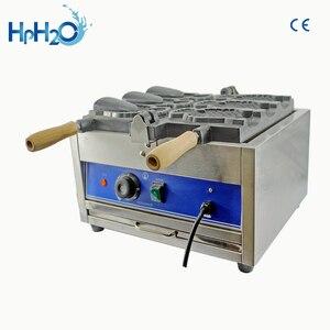 Image 3 - מסחרי 3 pcs חשמלי פתוח פה גלידת מכונת taiyaki דגי ופל צורת קונוס יצרנית מכונה